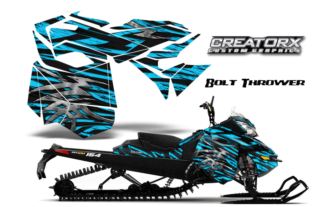 Skidoo Rev XM Graphics Kit Bolt Thrower BlueIce BB