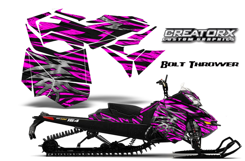 Skidoo Rev XM Graphics Kit Bolt Thrower Pink BB