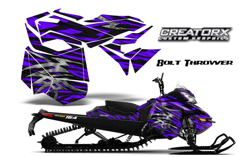 Skidoo Rev XM Graphics Kit Bolt Thrower Purple BB